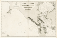 California Map By J & C Walker / British Admiralty