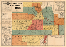 Southwest and Rocky Mountains Map By Emil B. Fischer