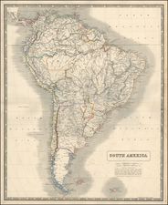 South America Map By W. & A.K. Johnston