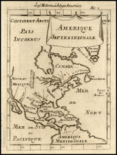 North America Map By Alain Manesson Mallet