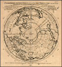 World, Northern Hemisphere and Polar Maps Map By Pierre Moullart Sanson
