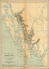 Alaska Map By Augustus Herman Petermann