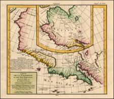 Southwest, Alaska, North America and California Map By Denis Diderot / Didier Robert de Vaugondy