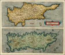 Europe, Greece, Turkey, Mediterranean and Balearic Islands Map By Abraham Ortelius