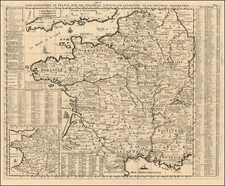France Map By Henri Chatelain