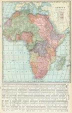 Africa and Africa Map By George F. Cram