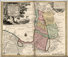 Asia and Holy Land Map By Matthaus Seutter