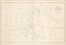 Rocky Mountains Map By F.V. Hayden