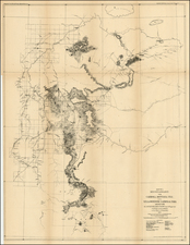 Rocky Mountains Map By U.S. Army Corps of Topographical Engineer
