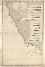 Baja California and California Map By British Admiralty