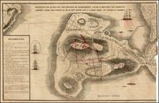 New England Map By Henery De Berniere / Harrison Hall
