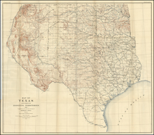 Texas and Plains Map By U.S. Geological Survey