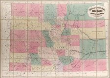 Rocky Mountains Map By Henry T. Williams