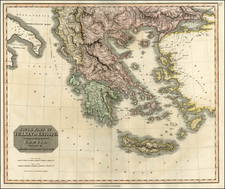Europe, Balkans, Greece, Turkey and Balearic Islands Map By John Thomson