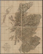 British Isles and Scotland Map By Aaron Arrowsmith
