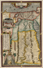 Asia, Middle East, Africa and North Africa Map By Abraham Ortelius