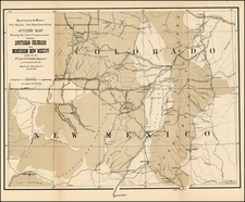 Southwest and Rocky Mountains Map By U.S. War Department