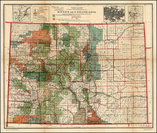 Rocky Mountains Map By U.S. General Land Office