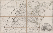 Mid-Atlantic, Maryland, Southeast and Virginia Map By Joshua Fry  &  Peter Jefferson