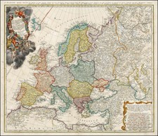 Europe and Europe Map By Johann Matthaus Haas