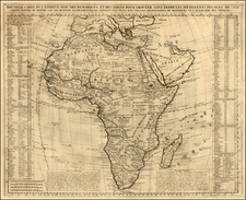 Africa Map By Henri Chatelain