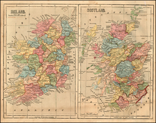 Scotland and Ireland Map By Charles Morse