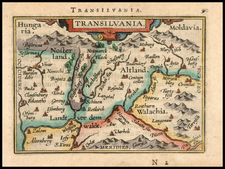Romania and Balkans Map By Abraham Ortelius / Johannes Baptista Vrients