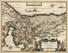 Asia and Holy Land Map By Willem Janszoon Blaeu