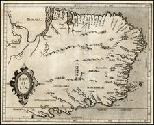 South America and Brazil Map By Cornelis van Wytfliet