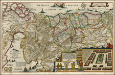 Asia and Holy Land Map By Claes Janszoon Visscher
