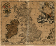 British Isles Map By Claes Janszoon Visscher