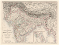 Asia, India and Central Asia & Caucasus Map By Archibald Fullarton & Co.