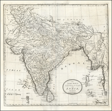 Asia, India and Southeast Asia Map By Mathew Carey