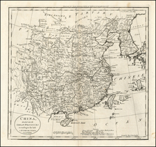 Asia, China and Korea Map By Mathew Carey
