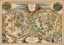 World and Celestial Maps Map By Nicolas de Fer