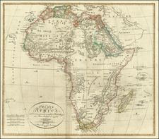 Africa and South Africa Map By Iohann Matthias Christoph Reinecke