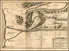 Holy Land and Egypt Map By Claude-Auguste du Berey