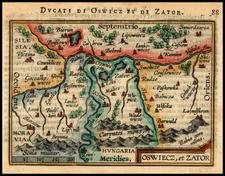 Poland, Romania and Balkans Map By Abraham Ortelius / Johannes Baptista Vrients