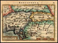 Balkans Map By Abraham Ortelius / Johannes Baptista Vrients