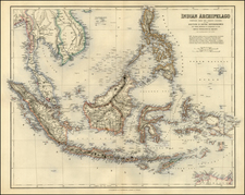 Asia, Southeast Asia and Philippines Map By Archibald Fullarton & Co.