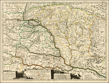 Austria, Hungary, Romania and Balkans Map By Vincenzo Maria Coronelli / Jean-Baptiste Nolin