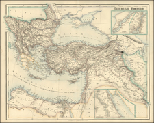 Europe, Balkans, Greece, Turkey, Mediterranean, Balearic Islands, Asia, Holy Land and Turkey & Asia Minor Map By Archibald Fullarton & Co.