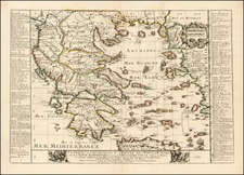 Greece Map By Pierre Du Val