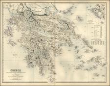 Europe, Balkans and Greece Map By Archibald Fullarton & Co.