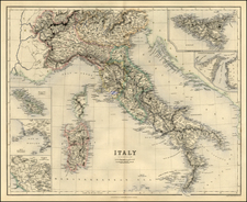 Italy Map By Archibald Fullarton & Co.