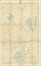 Southwest and California Map By George M. Wheeler