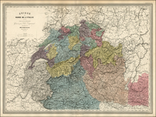 Switzerland and Italy Map By Adolphe Hippolyte Dufour
