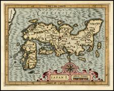 Japan Map By Jodocus Hondius