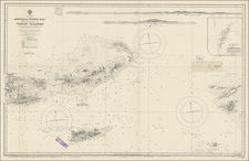 Caribbean, Puerto Rico and Virgin Islands Map By British Admiralty