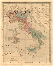 Italy Map By Charles Morse